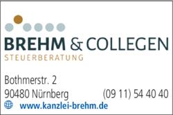 Anzeige Brehm Steuerberatung, Brehm Sebastian Dipl.-Kfm.