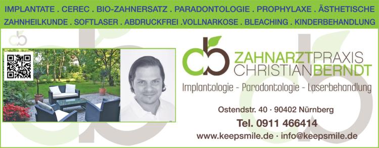 Anzeige Berndt Christian Zahnarzt