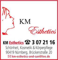 Anzeige KM Esthetics