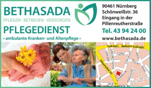 Anzeige Bethasada GmbH, Pflegedienst
