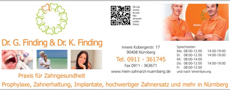 Anzeige Zahnärzte Finding G. + K. Drs.