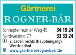 Anzeige Rogner-Bär Gärtnerei
