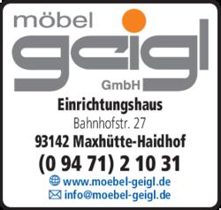 Geigl Einrichtungshaus In Maxhutte Haidhof Maxhutte Im Das
