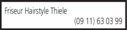 Anzeige Friseur Hairstyle Thiele