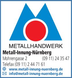Anzeige Metall-Innung-Nürnberg