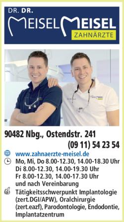 Anzeige Zahnarztpraxis Dr. Mark und Dr. Ulf Meisel
