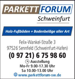 parkett hofmann schweinfurt gmbh co kg in sennfeld im das telefonbuch finden tel 09721. Black Bedroom Furniture Sets. Home Design Ideas