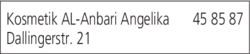 Anzeige Kosmetik AL-Anbari Angelika