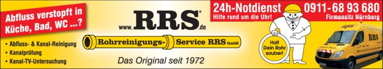Anzeige Rohrreinigung Service RRS