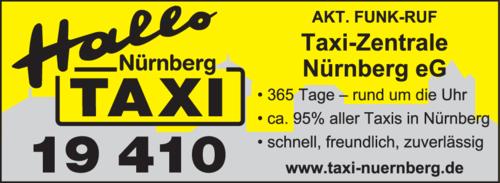 Anzeige Akt. Funk-Ruf-Taxi-Zentrale Nürnberg eG