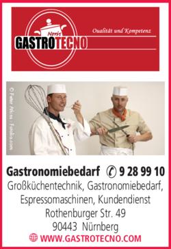 Anzeige Gastrotecno Gastronomiebetrieb und Gastronomiegeräte