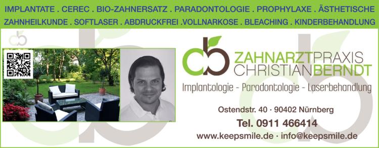 Anzeige Zahnärzte: Implantologie Berndt Christian