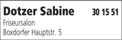Anzeige Dotzer Sabine