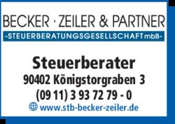 Anzeige Steuerberater Becker, Zeiler & Partner