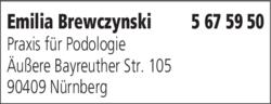 Anzeige Podologie Brewczynski