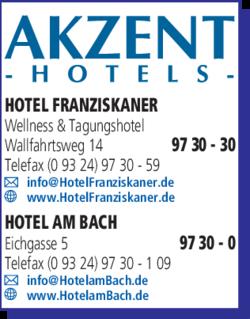Akzent Hotels Franziskaner Am Bach In Dettelbach Im Das