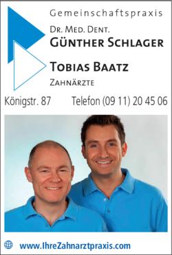 Anzeige Baatz Tobias, Schlager Günther Dr.med.dent.