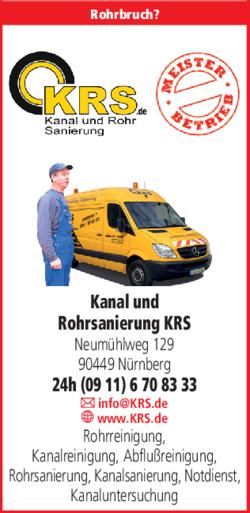 Anzeige Kanal und Rohrsanierung KRS