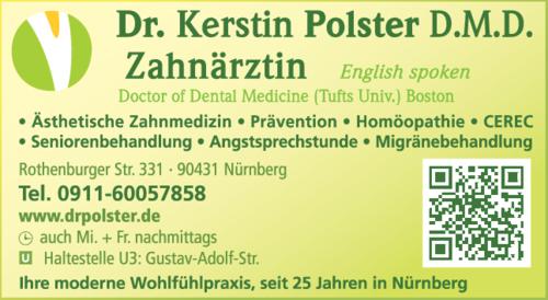 Anzeige Polster Kerstin Doctor of Dental Medicine