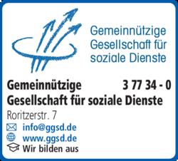 Anzeige Gemeinnützige Gesellschaft für soziale Dienste