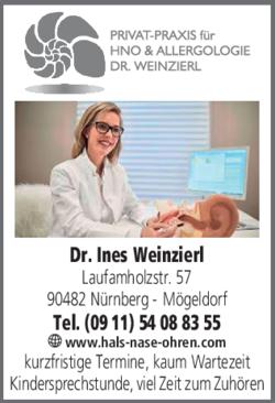 Anzeige HNO Privatpraxis Weinzierl Ines Dr.