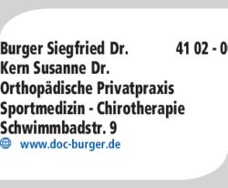 burger siegfried dr in schwandorf im das telefonbuch finden tel 09431 41. Black Bedroom Furniture Sets. Home Design Ideas