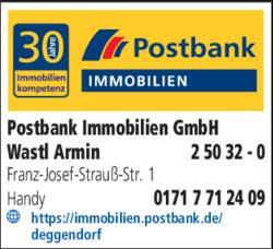 Postbank Immobilien GmbH in Deggendorf >> im Das Telefonbuch finden ...