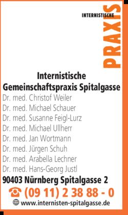 Anzeige Internistische Gemeinschaftspraxis Spitalgasse