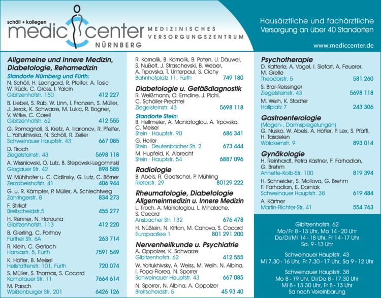Anzeige Medic Center Nürnberg
