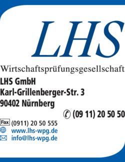 Anzeige LHS GmbH