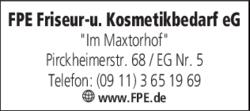 Fpe Friseur Und Kosmetikbedarf Eg In Nürnberg In Das örtliche