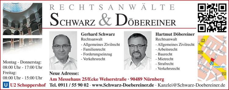 Anzeige Rechtsanwälte Schwarz & Döbereiner