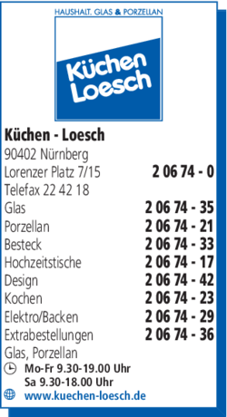 Anzeige Küchen-Loesch