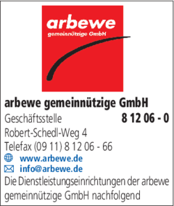 arbewe gemeinn tzige gmbh in n rnberg langwasser im das telefonbuch finden tel 0911 8 12. Black Bedroom Furniture Sets. Home Design Ideas