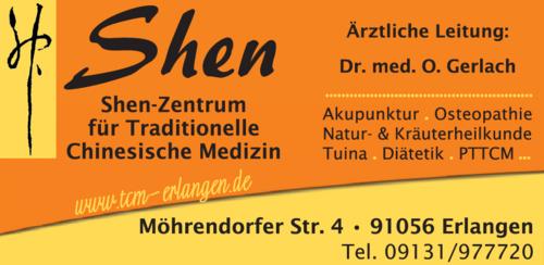 Anzeige Shen-Zentrum für Traditionelle Chinesische Medizin