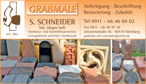 grabmale schneider s in n rnberg st johannis im das telefonbuch finden tel 0911 66 46 6. Black Bedroom Furniture Sets. Home Design Ideas