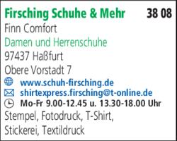 Firsching Schuhe & Mehr Inh. Walter Firsching in Haßfurt >> im Das ...