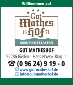 Anzeige Gut Matheshof