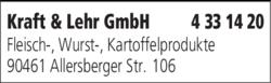 Anzeige Kraft & Lehr GmbH