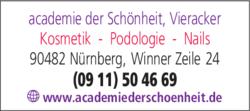 Anzeige Kosmetikstudio academié der Schönheit Lydia Vieracker