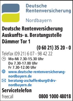 deutsche rentenversicherung nordbayern in aschaffenburg. Black Bedroom Furniture Sets. Home Design Ideas