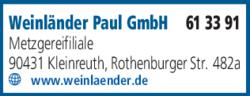 Anzeige Weinländer Paul GmbH