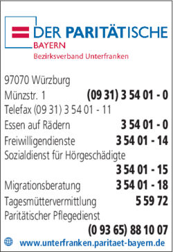 Paritatischer Wohlfahrtsverband Landesverband Bayern E V In
