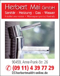 Anzeige Mai Herbert GmbH Sanitär Heizung