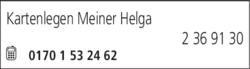 Anzeige Kartenlegen Meiner Helga