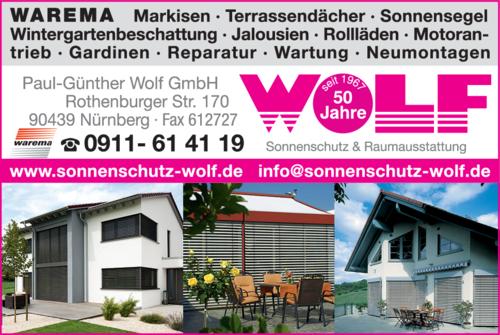 Anzeige Wolf GmbH