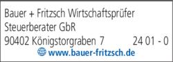 Anzeige Bauer + Fritzsch Wirtschaftsprüfer Steuerberater GbR