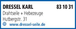 Anzeige Dressel Karl