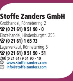 Stoffe Zanders Gmbh In Mönchengladbach Rönneter Das Telefonbuch