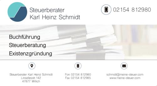 steuerberater schmidt karl heinz in willich schiefbahn. Black Bedroom Furniture Sets. Home Design Ideas